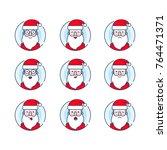 christmas santa set. santa... | Shutterstock .eps vector #764471371
