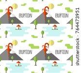 vector seamless pattern... | Shutterstock .eps vector #764473951