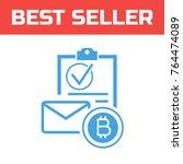 marked checklist icon. check...   Shutterstock .eps vector #764474089