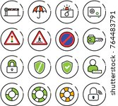 thin line vector icon set  ... | Shutterstock .eps vector #764483791