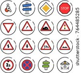 thin line vector icon set  ... | Shutterstock .eps vector #764485285