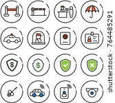 thin line vector icon set   vip ... | Shutterstock .eps vector #764485291