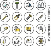 thin line vector icon set  ... | Shutterstock .eps vector #764485477