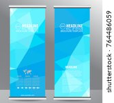 roll up business brochure flyer ...   Shutterstock .eps vector #764486059