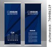 roll up business brochure flyer ...   Shutterstock .eps vector #764486119