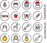 thin line vector icon set  ... | Shutterstock .eps vector #764490919
