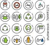 thin line vector icon set  ... | Shutterstock .eps vector #764491171