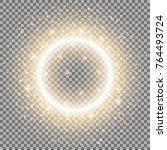 light ring with stardust ...   Shutterstock .eps vector #764493724