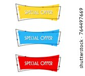special offer sale banner for... | Shutterstock .eps vector #764497669