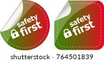 secure lock sign label isolated ... | Shutterstock . vector #764501839
