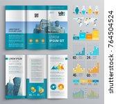 business brochure template... | Shutterstock .eps vector #764504524