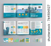 business brochure template... | Shutterstock .eps vector #764504527