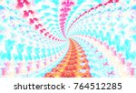 colorful perspective rotating... | Shutterstock . vector #764512285