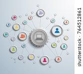 abstract global network... | Shutterstock .eps vector #764512861