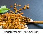 Raisins On A Wooden Spoon....
