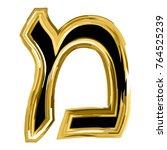 the golden letter mem from the... | Shutterstock .eps vector #764525239