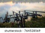 carp fishing rods fishing rod ... | Shutterstock . vector #764528569