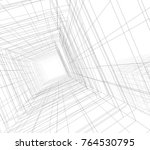 abstract architecture 3d... | Shutterstock . vector #764530795