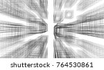 abstract architecture 3d... | Shutterstock . vector #764530861