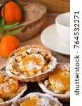 apple tangerine tarts .... | Shutterstock . vector #764532271