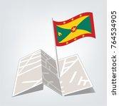 national flag of vanuatu vector ... | Shutterstock .eps vector #764534905