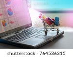 shopping  ecommerce and market... | Shutterstock . vector #764536315