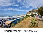 cefalu  sicily  italy  ... | Shutterstock . vector #764547961