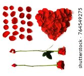 heart shaped petals  arrow...   Shutterstock . vector #764549275