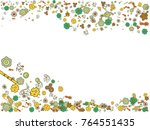 abstract background on a theme... | Shutterstock .eps vector #764551435