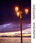 old  antique streetlamp  ... | Shutterstock . vector #764552341
