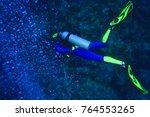 Small photo of CIRCA 2010 MR Scuba Diver and bubbles from scba regulator, Beqa Island off Southern Viti Levu, Fiji, South Pacific