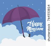 happy monsoon colorful design... | Shutterstock .eps vector #764553814