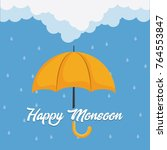 happy monsoon colorful design... | Shutterstock .eps vector #764553847