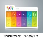 folder infographics design... | Shutterstock .eps vector #764559475