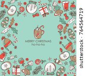 christmas and new year card... | Shutterstock .eps vector #764564719