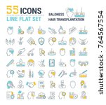 vector graphic set. icons in...   Shutterstock .eps vector #764567554