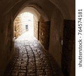 stone old city jaffa in tel aviv | Shutterstock . vector #764574181
