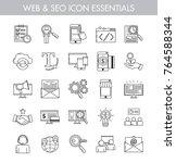big bundle of essential basic... | Shutterstock .eps vector #764588344