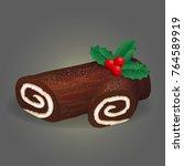 traditional christmas festive... | Shutterstock .eps vector #764589919