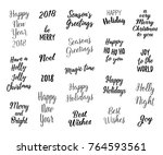 happy new year and merry... | Shutterstock .eps vector #764593561