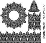 set mandalas and patterns. | Shutterstock .eps vector #764598877