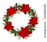 traditional classic christmas... | Shutterstock .eps vector #764600185