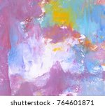 colorful abstract painting... | Shutterstock . vector #764601871