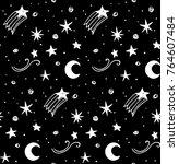 star background white and black ... | Shutterstock .eps vector #764607484