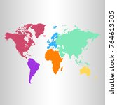 color world map vector | Shutterstock .eps vector #764613505