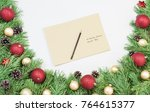 letter to santa claus in... | Shutterstock . vector #764615377