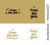 happy new year card. hand... | Shutterstock .eps vector #764616337