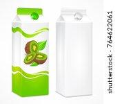 packages for juice  cardboard... | Shutterstock .eps vector #764622061