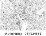 streets of washington  city map ... | Shutterstock .eps vector #764624551