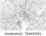 streets of washington  city map ... | Shutterstock .eps vector #764624551